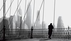 Paul Himmel - Brooklyn Bridge View, 1950