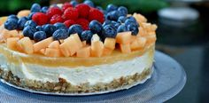 En sunnere ostekake Clean Eating Recipes, Raw Food Recipes, Cooking Recipes, Pudding Desserts, No Bake Desserts, Norwegian Food, Just Eat It, Sweets Cake, No Bake Cake