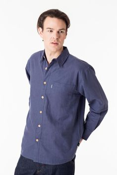 Women and Men's Eco Fashion organic cotton, hemp, bamboo wool eco-friendly and sustainable natural clothing all made in Vancouver BC Canada. Denim Button Up, Button Up Shirts, Natural Clothing, Hemp, Effort, Organic Cotton, Winter Fashion, Shirt Dress, Mens Fashion