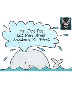 Inky Antics Wonderful Whale Cling Stamp Set Mail Pals Icl - Nicola Storr Mail Pals Wonderful Whale Mail Art Envelopes Are The Perfect Finishing Touch For Your Letters And Hand Stamped Cards These Delightful Characters Will Help You Transform Your Envelope Fancy Envelopes, Mail Art Envelopes, Decorated Envelopes, Addressing Envelopes, Letter Addressing, Envelope Lettering, Envelope Art, Envelope Design, Hand Lettering