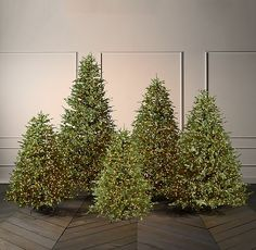 Faux Noble Fir Tree With Illuminate Technology - Incandescent Bulbs