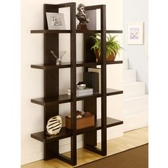Ellise 4-shelf Display Stand/ Storage Cabinet 70.88 inches high x 47.5 inches wide x 14.60 inches deep