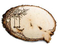 Tree Swing Country Design: Wood slice rustic theme by JKartshop