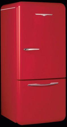 nostalgia retro furniture juke boxes gas pumps movie posters - northstar-refrigerator-red