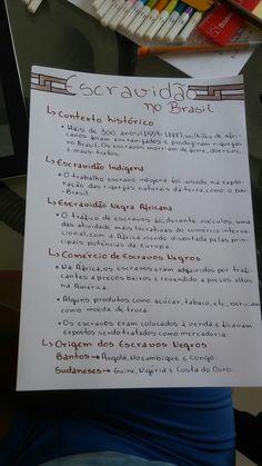 Escravidão no Brasil | resumo Enem Neat Handwriting, Study History, Eye Tutorial, Study Hard, Study Inspiration, Studyblr, Study Notes, Student Life, Study Tips