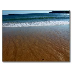 Intricate Sand Beach Patterns Postcard (Pkg of 8) by KJacksonPhotography --  Taken 09.23.2014 Intricate patterns left behind on Sand Beach of Acadia National Park as the waves of the Atlantic Ocean wash over it.PC:203.240 #nature #photography #sandbeach #beach #naturephotography #postcard #postcards