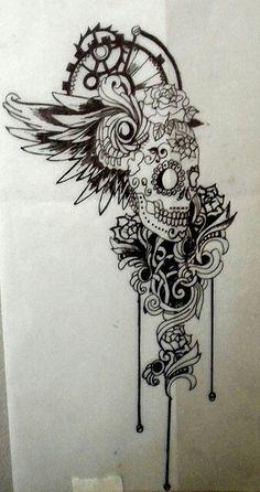 Sugar skull | Tattoos | Pinterest