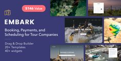 Tour Booking & Travel WordPress Theme - Embark by Themovation Booking, Payments, and Scheduling for Tour CompaniesSupport multiple people and businesses, and sync up your calendars. FeaturesB