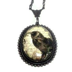 Gothic Jewelry Necklace The Raven by Edgar Allan by pink80sgirl, $49.00