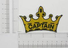 PATCHWORK PANDA LLC - Iron On Patch Applique - Captain in Crown, $1.60 (http://www.patchworkpandatrims.com/iron-on-patch-applique-captain-in-crown/)