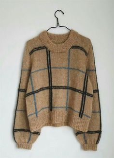 Scotty Sweater - Bluser/Sweatre - Kvinder - Designs i kategorier Pullover Design, Sweater Design, Cute Sweaters, Sweaters For Women, Knitting Sweaters, Big Sweater Outfit, Knit Fashion, Mode Inspiration, Sweater Weather