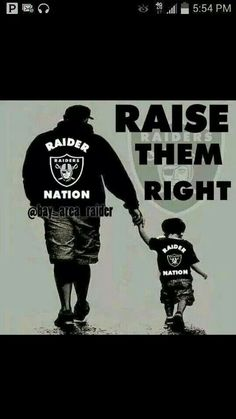 Raider Family THIS IS ME AND MY SON AARON!! Till we die!