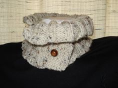 Natural Tweed Neck Warmer by joandben on Etsy, $30.00