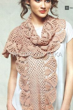 scarf with diagram