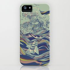 OCEAN AND LOVE iPhone & iPod Case by Huebucket - $35.00