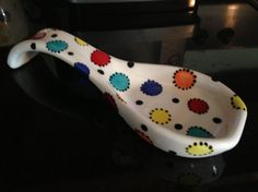 Colorful dot spoon rest