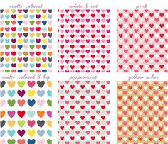 free printable scrapbook papers in lots of different colors of hearts - bjl