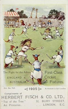 Cricker ©: Cricket match between (English) Lions and (Australian) Kangaroos! 20th Century Women, Cricket Match, National Archives, Sports Art, Vintage Posters, Lions, Compliments, Vintage Ladies, Congratulations