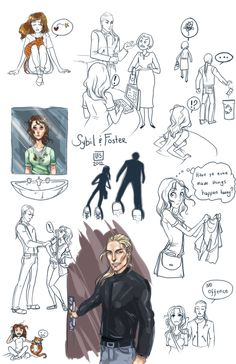 Sketch Page_Sybil and Foster by BlackBirdInk