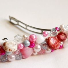 Easy way to make a pretty and personal barrette.