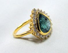 Emerald Ring , vintage K solid gold hallmarked , Natural emerald Diamond gemstone ring. Beautiful collection piece in very good condition. USA ring size -7.5 ( we can adjust size), size of top-16.5/15.5 mm, emerald weight-4 carat, diamond weight-0.63 carat VS G. | Shop this product here: spreesy.com/tribalexport/81 | Shop all of our products at http://spreesy.com/tribalexport    | Pinterest selling powered by Spreesy.com