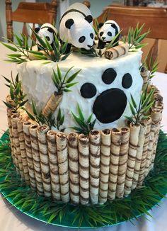 Torta de panda de cumpleaños #pandacake #panda #asi #fondant