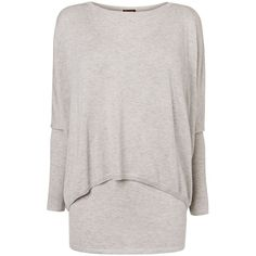 Phase Eight Charley crop double layer knitted jumper (345 RON) ❤ liked on Polyvore featuring tops, sweaters, clearance, grey, layered sweater, vest sweater, cropped jumper, cropped sweater and cropped vest