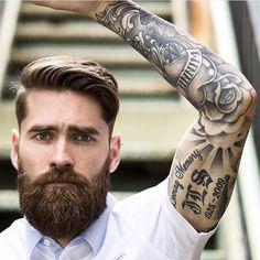 Beards and tattoos   tatuajes | Spanish tatuajes  |tatuajes para mujeres | tatuajes para hombres  | diseños de tatuajes http://amzn.to/28PQlav