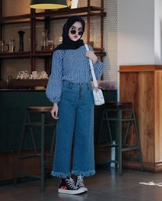 New Ideas Style Hijab Casual Pants – Hijab Fashion 2020 Street Hijab Fashion, Modern Hijab Fashion, Hijab Fashion Inspiration, Muslim Fashion, Modest Fashion, Fashion Outfits, Style Fashion, Trendy Fashion, Fashion Muslimah