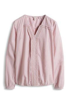 Esprit - Chambray-Bluse aus 100% Baumwolle im Online Shop kaufen