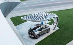 Solar canopy for electric vehicle charging systems