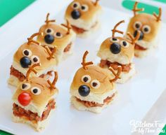 Christmas Party Idea - Reindeer Sloppy Joe Sliders with King's Hawaiian Bread…