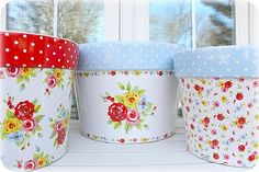 my flower pots My Flower, Flower Pots, Cath Kidston Home, Decoupage, Painted Clay Pots, Christmas Love, Dream Decor, Cute Crafts, Cottage Chic