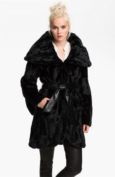 Tahari 'Marla' Faux Fur Wrap Coat available at Nordstrom