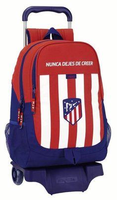 f9da0624a858a Safta Mochila Atlético De Madrid Oficial Escolar Con Carro Safta  330x150x430mm  Amazon.es