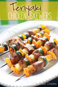 Teriyaki Chicken Skewers | cupcakediariesblog.com