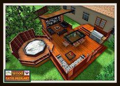 Ideas Small Patio Backyard Hot Tubs For 2019 Hot Tub Deck, Hot Tub Backyard, Backyard Playground, Playground Ideas, Hot Tub Gazebo, Design Patio, Backyard Patio Designs, Backyard Landscaping, Backyard Decks