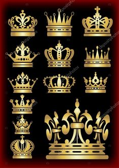 Crown symbol for your web site design. Crown Painting, Crown Drawing, Couple Name Tattoos, Zodiac Signs Leo Tattoo, Crown Symbol, Half Sleeve Tattoos For Guys, Church Stage Design, Glitter Background, Silhouette Art