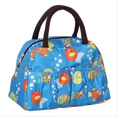 New Fashion Cartoon Lady Women Handbags lunch box bag Character Animal prints Candy color bags Polyester 21 color