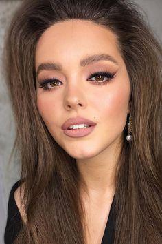 36 Ideas For Natural Bridal Makeup ❤ natural bridal makeup eyes shades fox arrows with nude lips yana.yasnaya #weddingforward #wedding #bride #weddingmakeup #naturalbridalmakeup