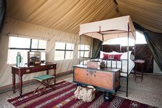 Camp Kalahari - Makgadikgadi Salt Pans - Botswana. Old school elegance is the order of the day at this lovely rustic camp right on the edge of the Makgadikgadi National Park, overlooking the vast Salt Pans.