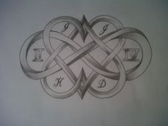 Heart infinity tattoo design