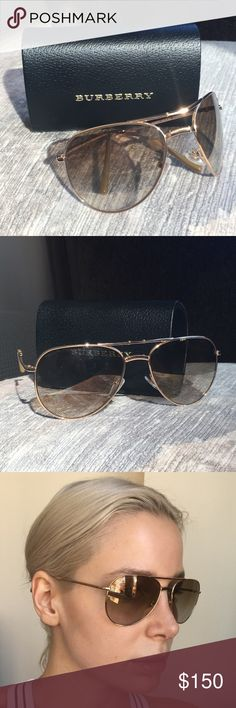 Brand new Burberry Aviators MODEL: BE3072 LENS COLOR: Brown Mirror Bronze LENS TECHNOLOGY: Mirror MATERIAL: Metal GENDER: Women FRAME TYPE: Full Rim STYLE: Aviator MADE IN: Italy UPC: 8053672320664 PRODUCT DESCRIPTION: Burberry BE3072 is a Metal Full Rim frame for Women. This Large size frame features an Aviator shape. This Burberry sunglass comes in its original manufacturer packaging and comes with a Burberry case Burberry Accessories Sunglasses