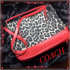 Coach Large Bag This authentic coach handbag has absolutely no signs of wear and tear and was purchased in a Coach store and comes with Storage bag. Measures 11 3/4 L and 15 W Coach Bags Shoulder Bags