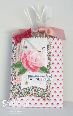 Love Blossoms Bag - SU - Picture Perfect stamp set - treat bag by Amy O'Neill