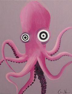 Octopus Acrylic Painting Print Octopus Print by WannabeStarvingArt