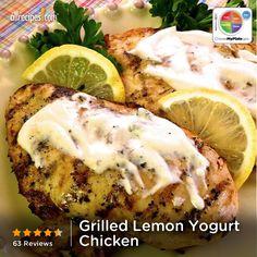 Grilled Lemon Yogurt Chicken from Allrecipes.com #myplate #protein #dairy