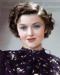 5 DAYS ONLY! MYRNA LOY IN FLOWER DRESS BEAUTIFUL COLOR PHOTO BY CHIP SPRINGER