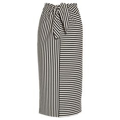 Tibi Ren Striped Cotton-blend Jersey Skirt In Black Skirt Pants, Dress Skirt, Midi Skirt, Modest Fashion, Fashion Dresses, Mulberry Shoulder Bag, Polyvore Dress, Jupe Short, Jersey Skirt