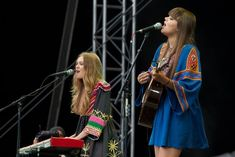 Johanna and Klara Söderberg of First Aid Kit. The Most Fashionable Female Musicians Making Music Right Now. #music #fashion